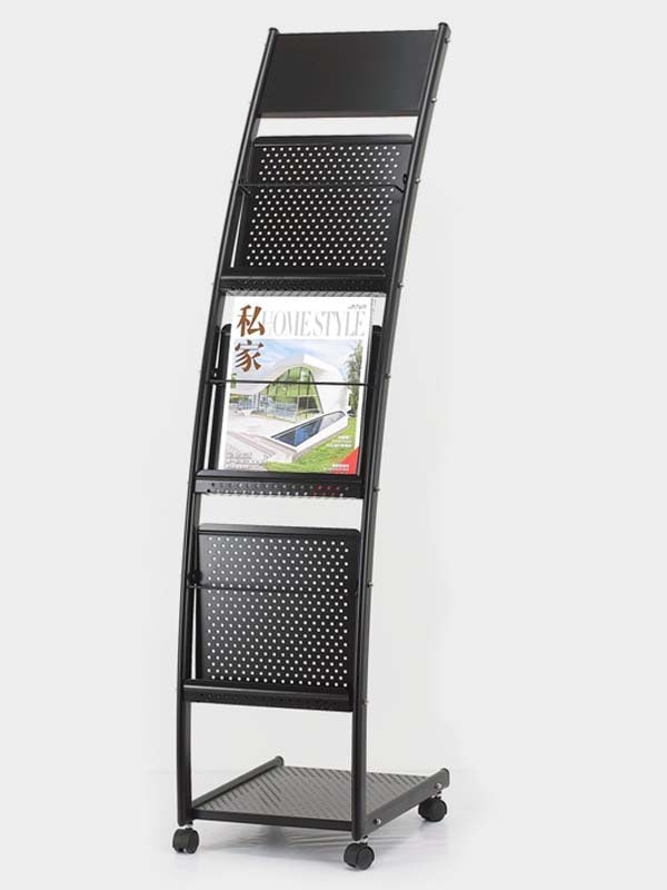Metal Curved Brochure Stand