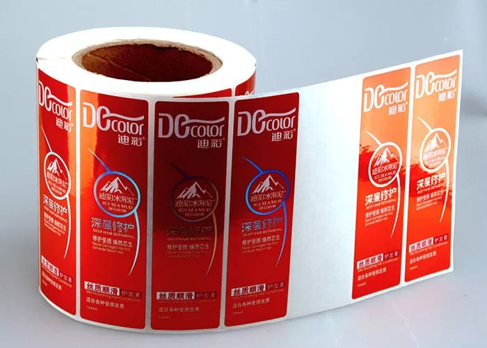 Metallic Paper Label Roll Sticker Printing Customized ,Vinyl