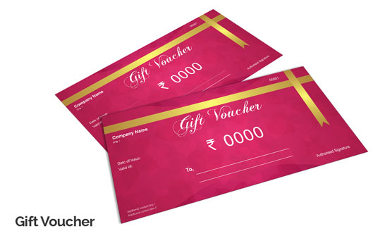 Custom Gift Voucher Design  Gift Card Printing Services Online - print your own voucher