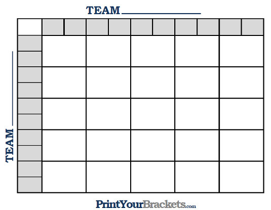 Printable MLB World Series Squares 25 Grid Office Pool MLB - football pool template
