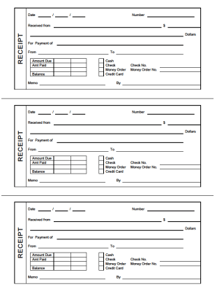 Free Rent Receipts Printable. Fax Cover Leter