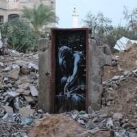 Banksy visita Gaza