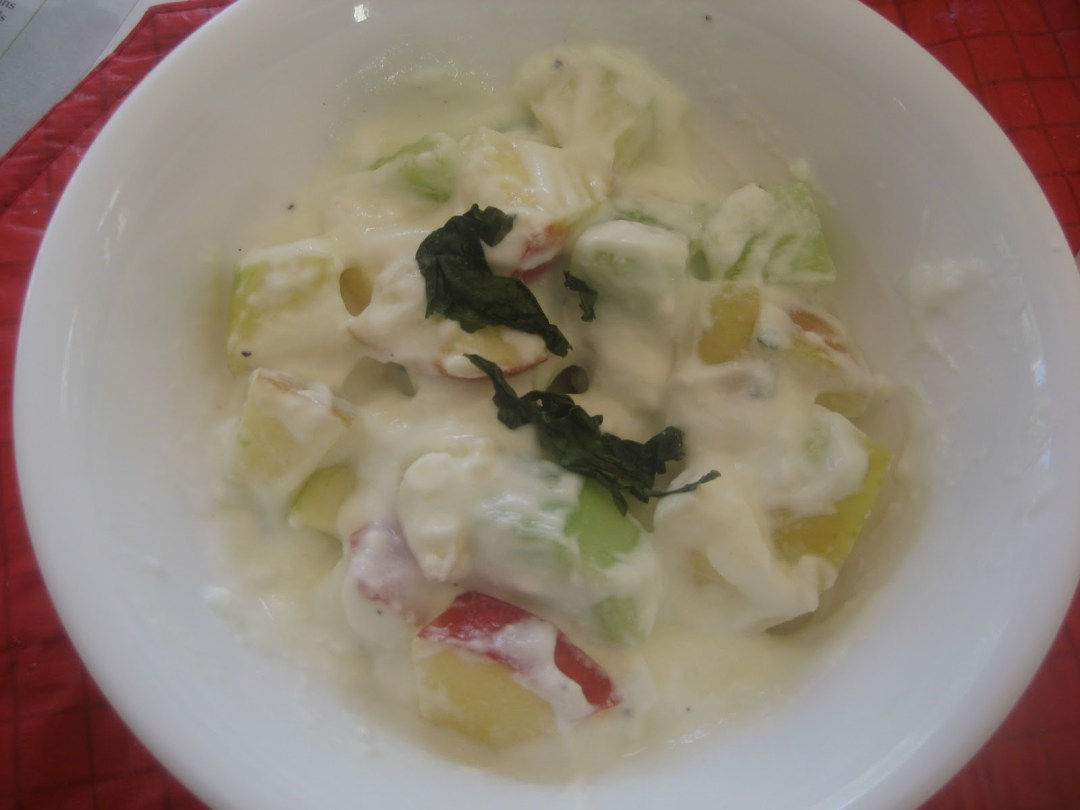 Cukeapple Salad and Raita