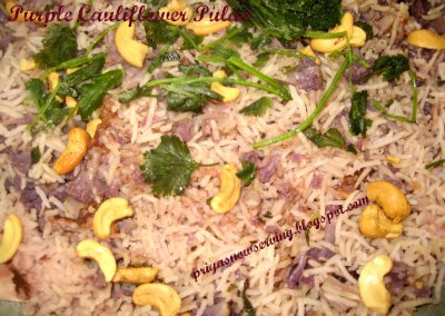 Purple Cauliflower Pulao