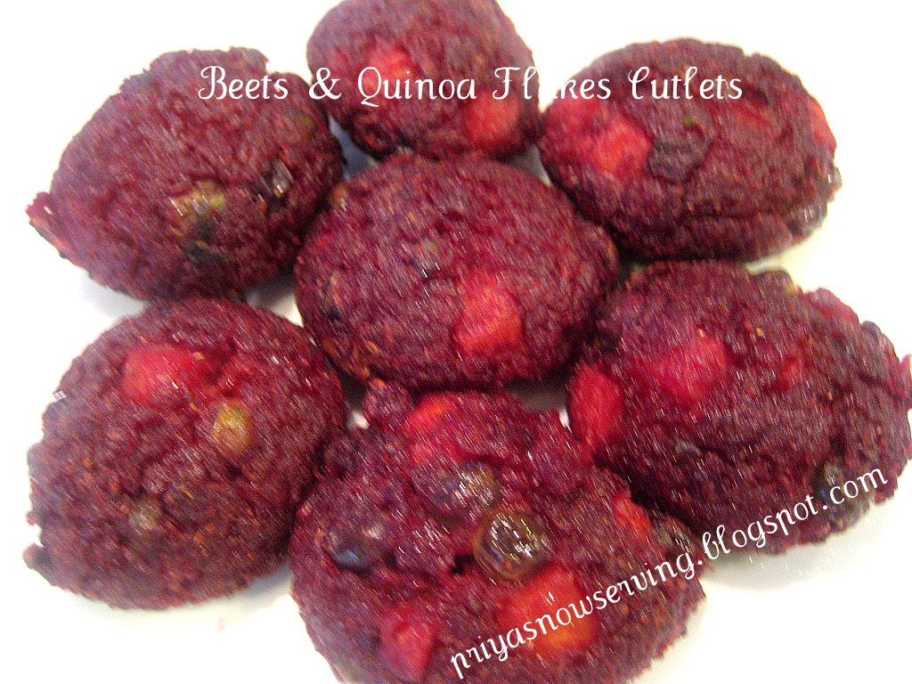 Beetroot Cutlets with Quinoa