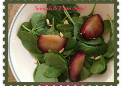 Baby Spinach & Plum Salad