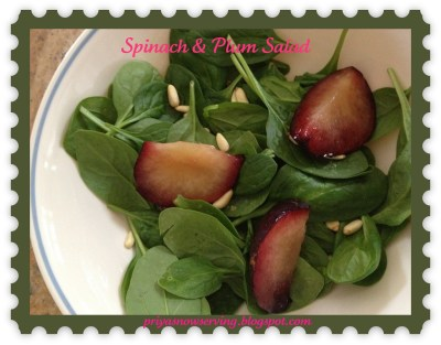 Spinach & Plum Salad