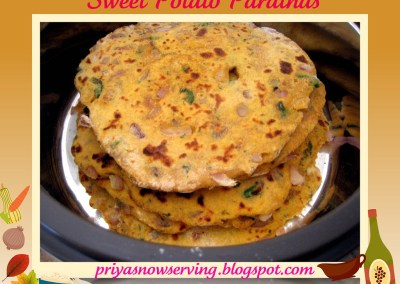 Sweet Potato Parathas – Thanksgiving Special :)