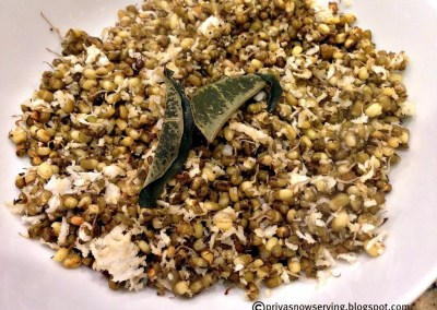 Sprouted Green Gram Sundal/Salad