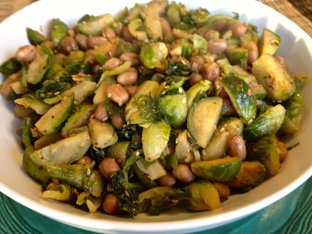 Brussel Sprouts and Peanut Stir Fry