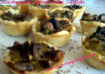 Mushroom and Green Onion Tartlets