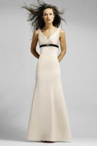 Full length bridesmaid dresses,black Sash bridesmaid ...