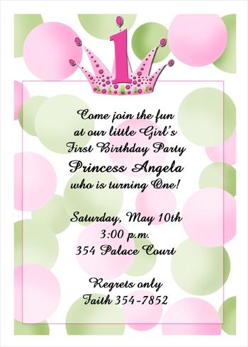 Birthday Invites for All Birthdays Party Invitation Cards -- Sarah