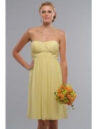 Bridesmaid Dresses Short Yellow