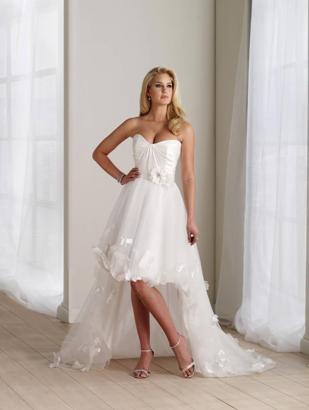 ivory wedding dresses high low flower taffeta strapless ivory wedding dresses ivory wedding dresses