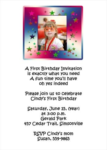 Kid Birthday Invitations For All Childrens Birthdays Party -- Sarah