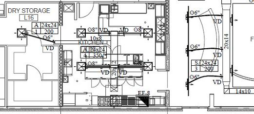 hvac drawing in autocad