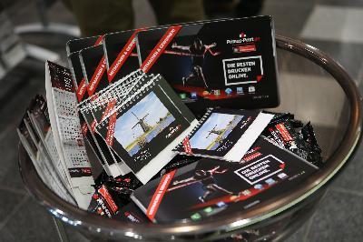 Primus-Print.de präsentierte Messestand für die VIP-Gäste der BayArena