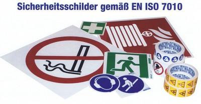 Sicherheitsschilder gemäß ISO 7010  Standard oder kundenspezifisch