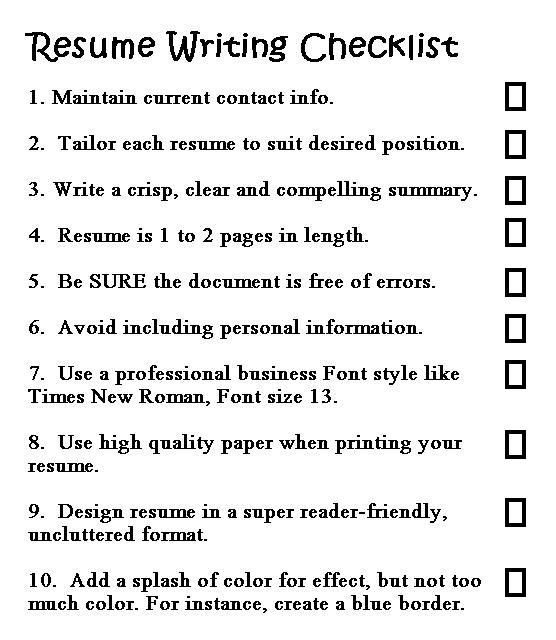 good resume writing - Tikirreitschule-pegasus