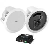 Wireless Bluetooth Hotel Room System with 2 In-Ceiling ...