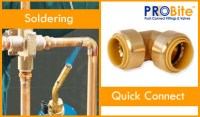 Copper Pipe Quick Connect Fittings - No Soldering or ...