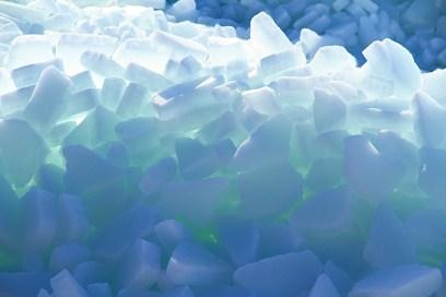 Winter 18 Eisberge Ostseebad Thiessow Insel Ruegen