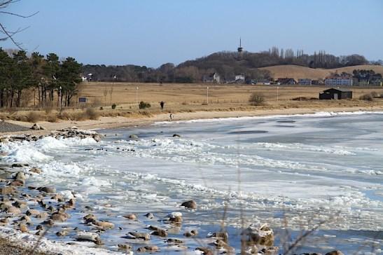 Winter 25 Eisberge Ostseebad Thiessow Insel Ruegen