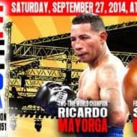 Ricardo Mayorga, Sam Peter & Yori Boy Campas in action on Sept 27 in Oklahoma City