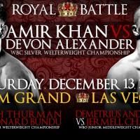 Amir Khan vs. Devon Alexander tickets on sale Friday