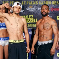 Jhonny Gonzalez-Gary Russell weigh-in results & photos