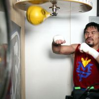 Photos: Manny Pacquiao's training session at the Wild Card
