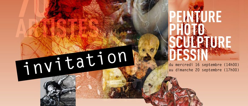 invitation et programme de l'exposition de Figuration Critique 2015