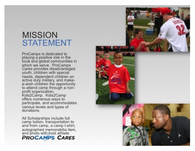 Our Mission - ProCamps Experience Your Ultimate Sports Camp with - make a wish mission statement