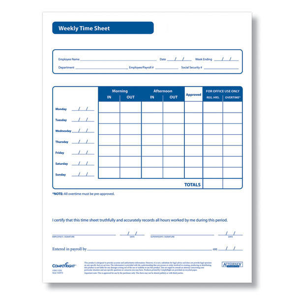 Weekly Time Sheet - AR0372