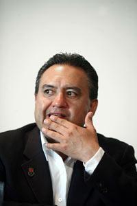 Martín Esparza, líder del SME. Foto: Germán Canseco
