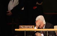 Mahmoud Abbas, presidente de Palestina, durante el discurso de Obama en la ONU. Foto: AP