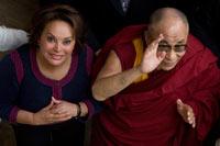 Elba Esther Gordillo y el Dalai Lama. Foto: Octavio Gómez