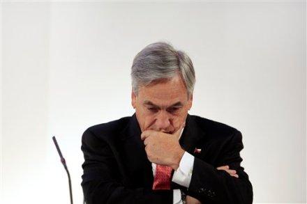 Sebastián Piñera, presidente de Chile. Foto: AP