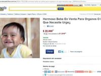 El anuncio del bebé en Mercado Libre.