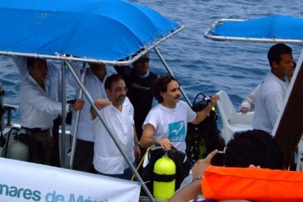 Arranca Quadri campaña en arrecife de Veracruz. Foto: PANAL