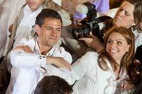 Enrique Peña Nieto y Angélica Rivera en Jalisco. Foto: Miguel Dimayuga