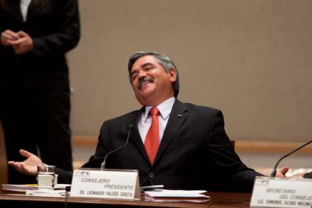 El presidente del Instituto Federal Electoral (IFE), Leonardo Valdés Zurita. Foto: Eduardo Miranda
