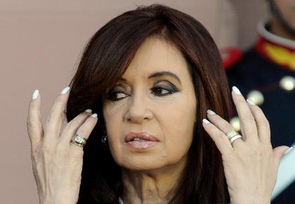 Cristina Fernández, titular del gobierno argentino. Foto: AP