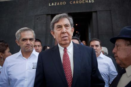 El líder moral del PRD, Cuauhtémoc Cárdenas. Foto: Octavio Gómez