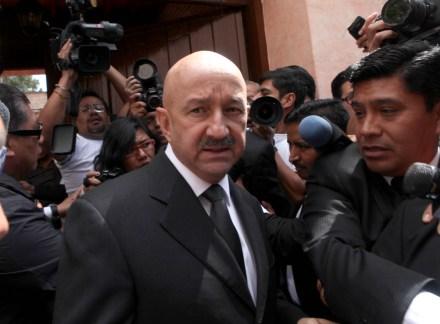Salinas de Gortari en el velorio del expresidente Miguel de la Madrid, en septiembre de 2012. Foto: Benjamín Flores