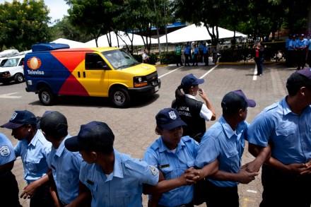 Una de las camionetas aseguradas en Nicaragua. Foto: AP