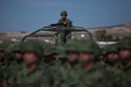 Militares en vigilancia. Foto: Octavio Gómez