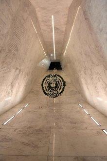 Calderón inaugura memorial a los soldados muertos en el sexenio. Foto: Germán Canseco