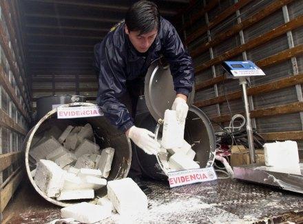 Un decomiso de drogas en Chile. Foto: AP